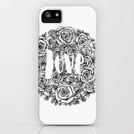 Love - Roses Illustration iPhone Case