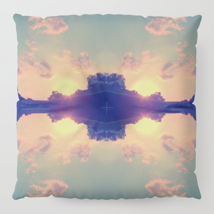 Multiple Sunsets  Floor Pillow