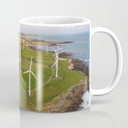 Aerial view of Carnsore Wind Farm Coffee Mug