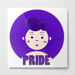 Pride - 7 deadly cartoon sins  Metal Print