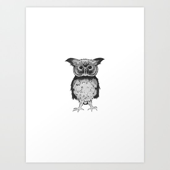 Small Owl Art Print