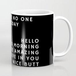 Just in case_black Coffee Mug