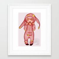 onesie Framed Art Prints featuring Onesie by Hetty's Art