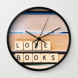 Love Books Wall Clock