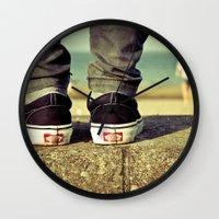 vans Wall Clocks featuring vans II. by Zsolt Kudar