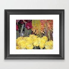 Yellow Roses Framed Art Print