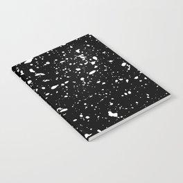 Retro Speckle Print - Black Notebook