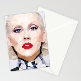 Low Poly Portrait Stationery Cards