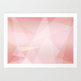 Abstract polygonal landscape Art Print