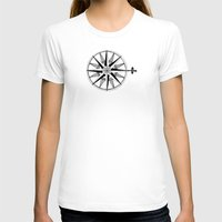 compass T-shirts featuring Compass by Addison Karl