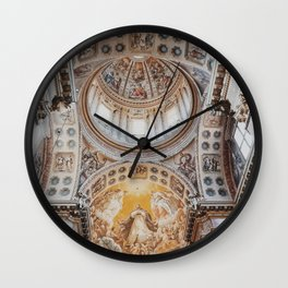Italy Photography - Beautiful Ceiling In Italy Wall Clock