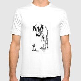 Great Dane & Chihuahua T-shirt