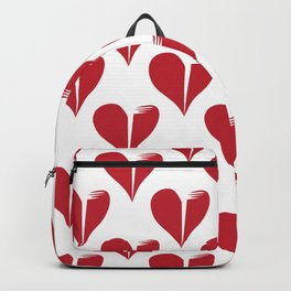 Seamless pattern with broken hearts Backpack