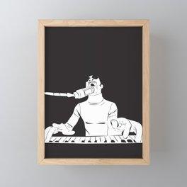 Feel the Music with Stevie Wonder Framed Mini Art Print