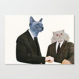 Cat Chat Canvas Print