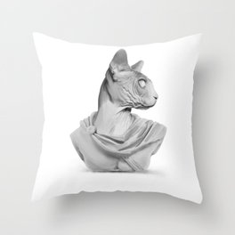 Sphynx portrait sculpture Throw Pillow