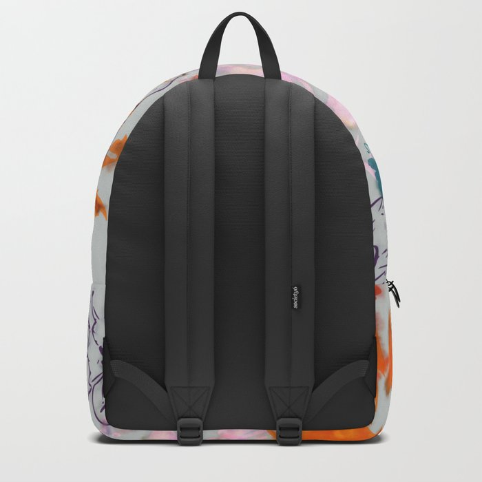 fall floral gray Backpack