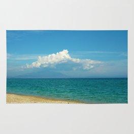 blue beach Rug