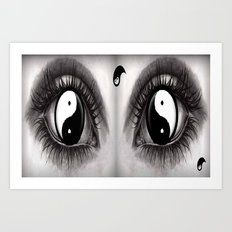 7 Eye Collection: Yin Yang In Your Eyes Art Print