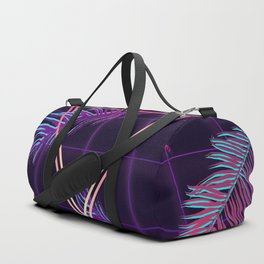 80's Retro Cyberpunk Synthwaves Dominating the Future Duffle Bag