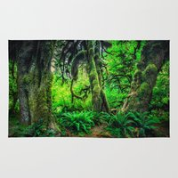 giants Area & Throw Rugs featuring Mossy Giants by JMcCool