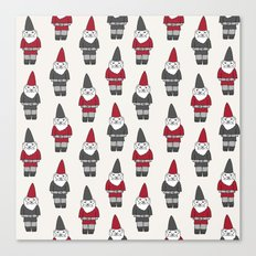 Gnome garden cute kids home pattern minimal gender neutral gnomes Canvas Print