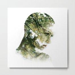 Forest Double Exposure Art Print Metal Print