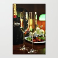 champagne Canvas Prints featuring champagne by laika in cosmos