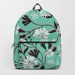 Mint Floral Shadow Backpack