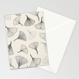 Ginko leaves grey Stationery Cards