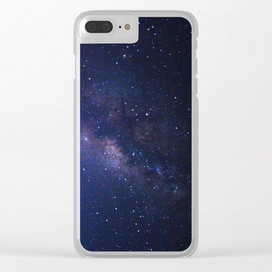 Galaxy Purple Clear iPhone Case