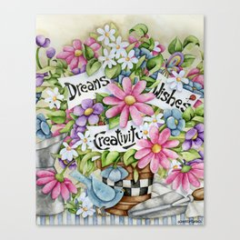 Dreams Wishes And Creativity Canvas Print