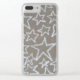 sidewalk chalk stars Clear iPhone Case
