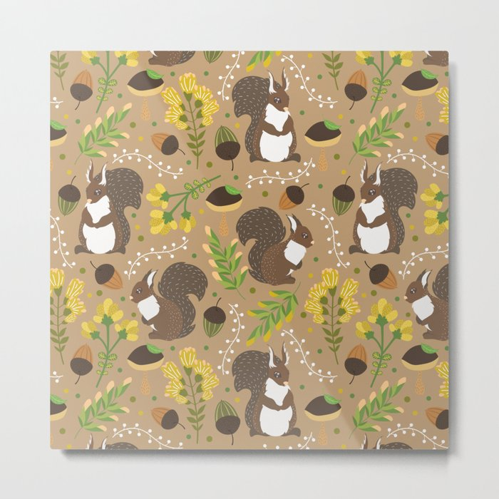 Chocolate squirrels Metal Print
