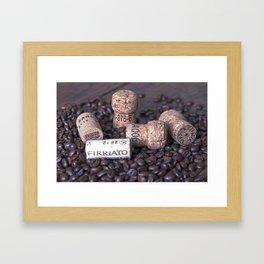 COFFEE & CORK Framed Art Print