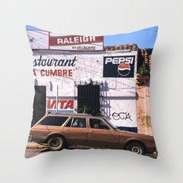 Mexico street scene Throw Pillow