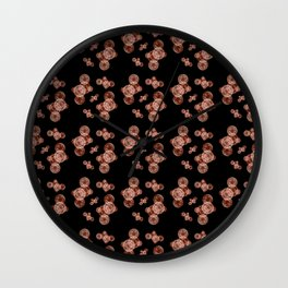 Kiku Pattern Wall Clock