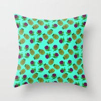portugal Throw Pillows featuring Azores, Portugal by Golden Heart