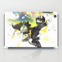 luigi iPad Cases featuring Luigi Riding Yoshi by idillard