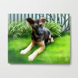 Lua the cutest GS Pup Metal Print