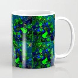 Green Black Opal Mosiac Coffee Mug