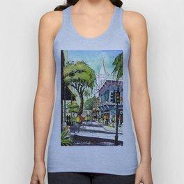 Duval Street, Key West Unisex Tank Top