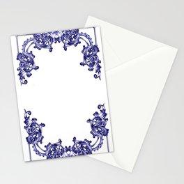 damask patern Stationery Cards