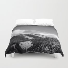 Big Sky Country - Black And White Duvet Cover