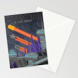Cybertron Travel Poster Stationery Cards