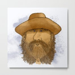 Flynt Locke, Cowboy Mountain Man Metal Print