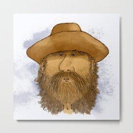 Flynt Locke, Cowboy Mountain Man Metal Print