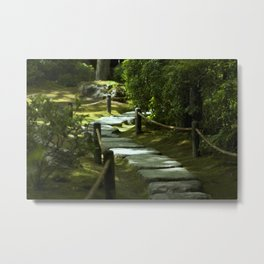 Moss gardern path Metal Print