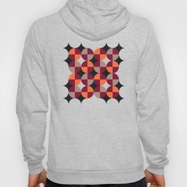 WineRed Squares Hoody