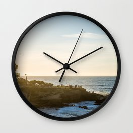 San Diego Beach Sunset Landscape in La Jolla Wall Clock